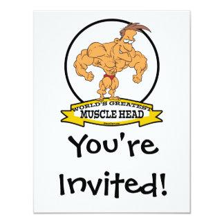 WORLDS GREATEST MUSCLE HEAD MEN CARTOON CARD