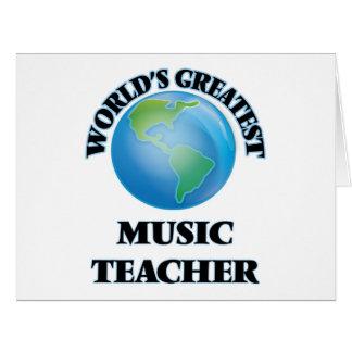 World's Greatest Music Teacher Cards