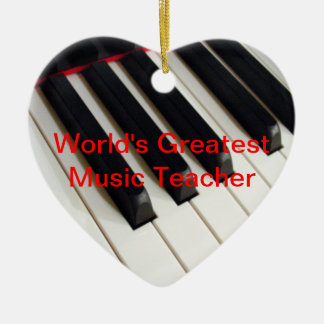 World's Greatest Music Teacher Ornament