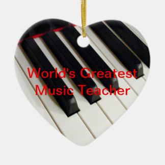 World's Greatest Music Teacher Ornament