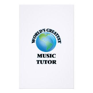 World's Greatest Music Tutor Stationery