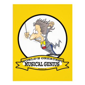 WORLDS GREATEST MUSICAL GENIUS MEN CARTOON FLYER