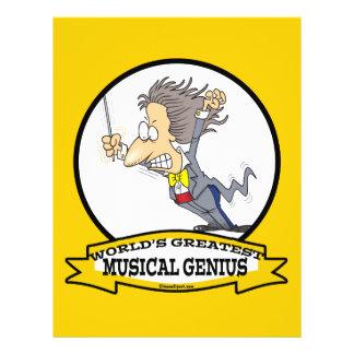 WORLDS GREATEST MUSICAL GENIUS MEN CARTOON FLYERS