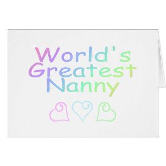 Worlds Greatest Nanny Card