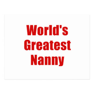 Worlds Greatest Nanny Postcard
