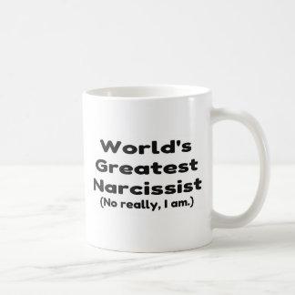 Worlds Greatest Narcissist Joke Coffee Mug