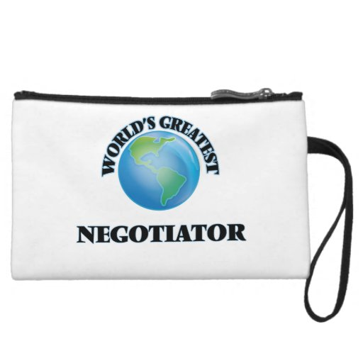 World's Greatest Negotiator Wristlet Clutches