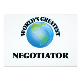 World's Greatest Negotiator Custom Invites