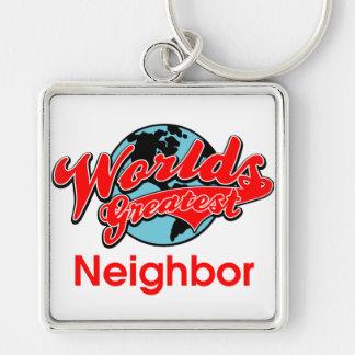 World's Greatest Neighbor Keychain