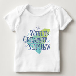 Baby Fine Jersey T-Shirt with World's Greatest Nephew design