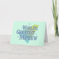 Standard Card with World's Greatest Nephew design