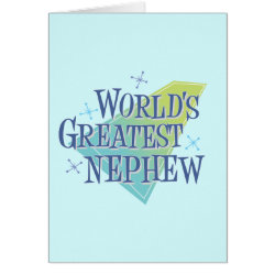 Note Card with World's Greatest Nephew design