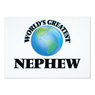 World's Greatest Nephew 5x7 Paper Invitation Card