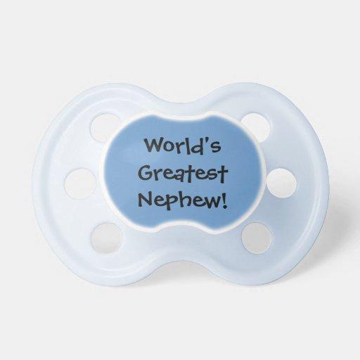 Worlds Greatest Nephew Baby Pacifiers