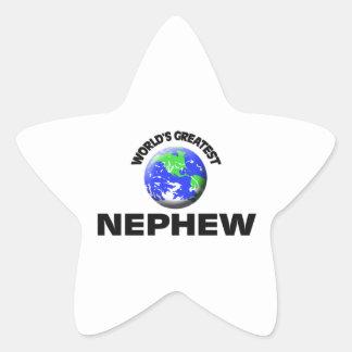World's Greatest Nephew Star Sticker