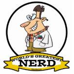 WORLDS GREATEST NERD MEN CARTOON PHOTO CUT OUT