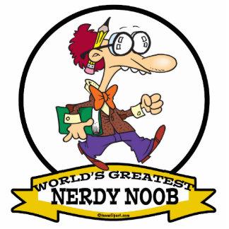 WORLDS GREATEST NERDY NOOB GUY CARTOON STANDING PHOTO SCULPTURE