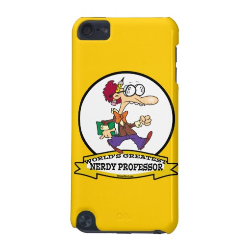 WORLDS GREATEST NERDY PROFESSOR CARTOON iPod TOUCH 5G CASES