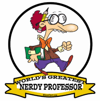 WORLDS GREATEST NERDY PROFESSOR CARTOON STANDING PHOTO SCULPTURE