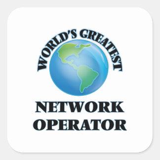 World's Greatest Network Operator Square Sticker
