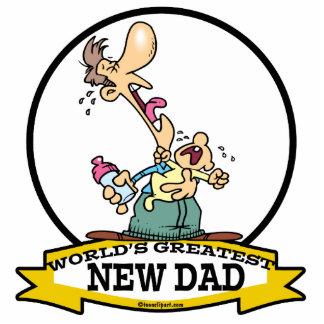 WORLDS GREATEST NEW DAD CARTOON ACRYLIC CUT OUT