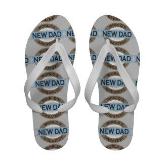 Worlds Greatest New Dad Sandals