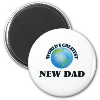 World's Greatest New Dad Refrigerator Magnet
