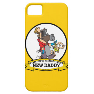 WORLDS GREATEST NEW DADDY MEN CARTOON iPhone 5 CASES