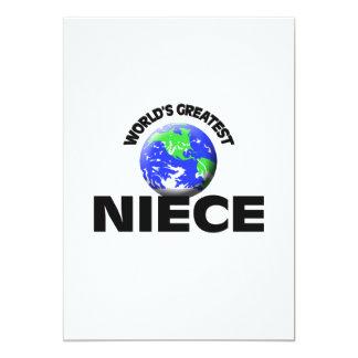 World's Greatest Niece 5x7 Paper Invitation Card