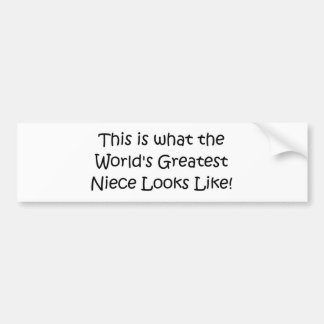 World's Greatest Niece Car Bumper Sticker