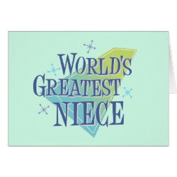 Greeting Card with World's Greatest Niece design