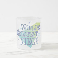 Frosted Glass Mug with World's Greatest Niece design