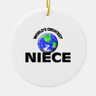 World's Greatest Niece Christmas Ornaments