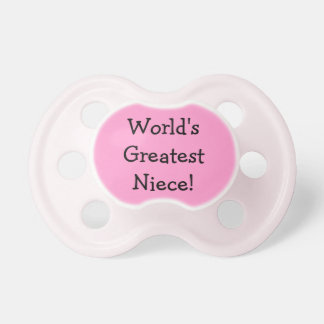 Worlds Greatest Niece Pacifier