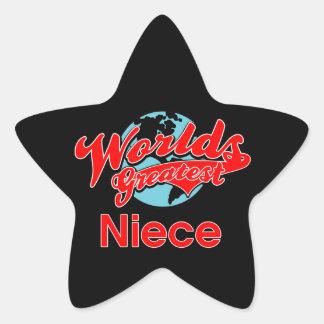 World's Greatest Niece Star Sticker