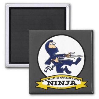 WORLDS GREATEST NINJA MEN CARTOON REFRIGERATOR MAGNETS