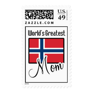 World's Greatest Norway Mom Stamps