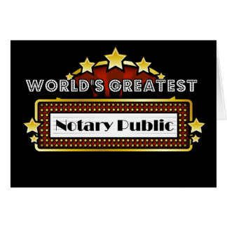 World's Greatest Notary Public Card