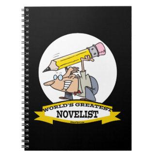 WORLDS GREATEST NOVELIST MEN CARTOON NOTE BOOKS