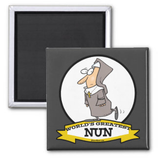 WORLDS GREATEST NUN CARTOON MAGNET