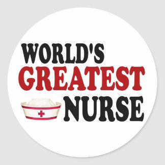World's Greatest Nurse Classic Round Sticker