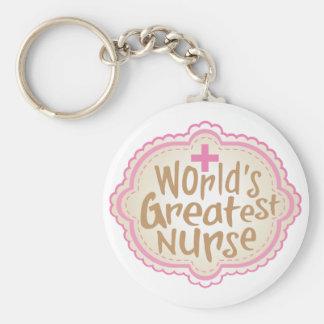 World's Greatest Nurse Keychain