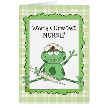 doodlesgifts World's Greatest Nurse Note card