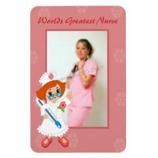 Worlds Greatest Nurse Pink Photo Magnet