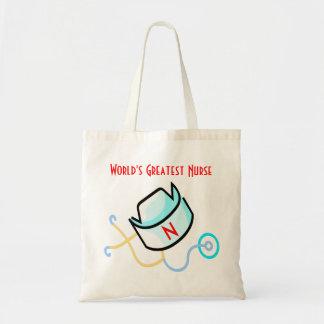 World's Greatest Nurse tote Bags