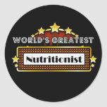 World's Greatest Nutritionist Stickers