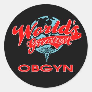 World's Greatest OBGYN Round Stickers