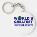 World's Greatest Occupational Therapist Basic Round Button Keychain