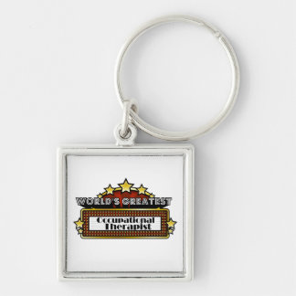 World's Greatest Occupational Therapist Silver-Colored Square Keychain