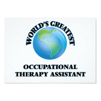 World's Greatest Occupational Therapy Assistant Personalized Invite